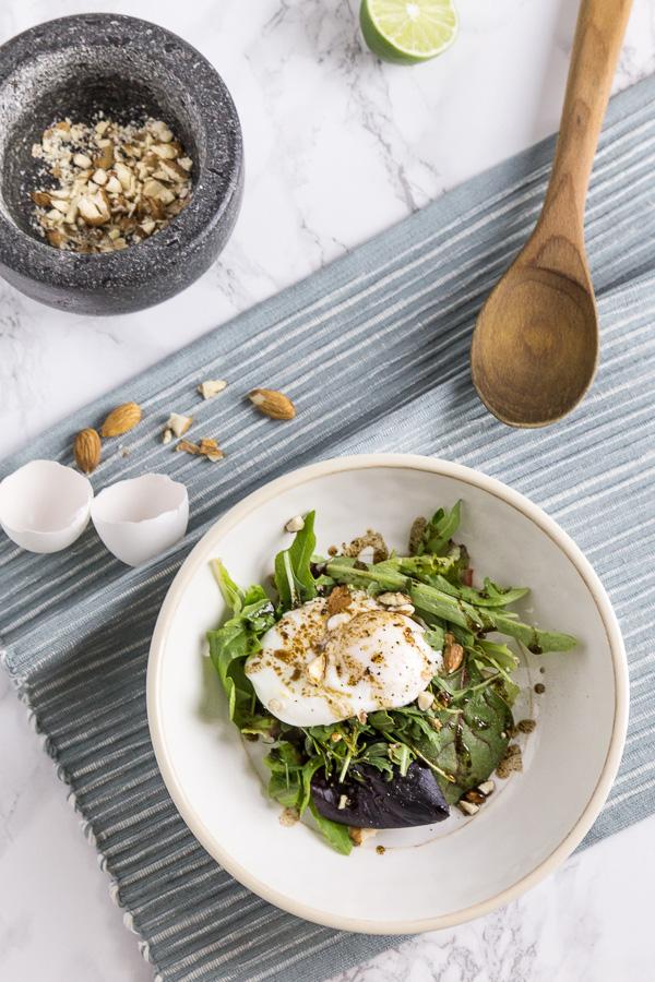Easy Poached Egg Arugula Salad Recipe
