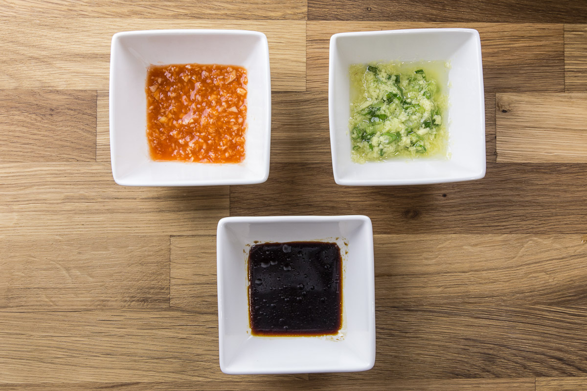 Hainanese Chicken Rice sauces
