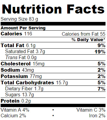 Sweet Cinnamon Apple Slices Nutrition