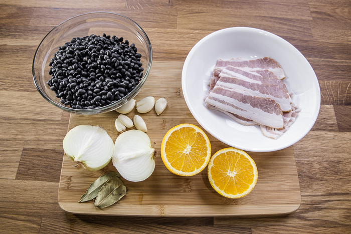 Easy Instant Pot Black Beans With Bacon Ingredients