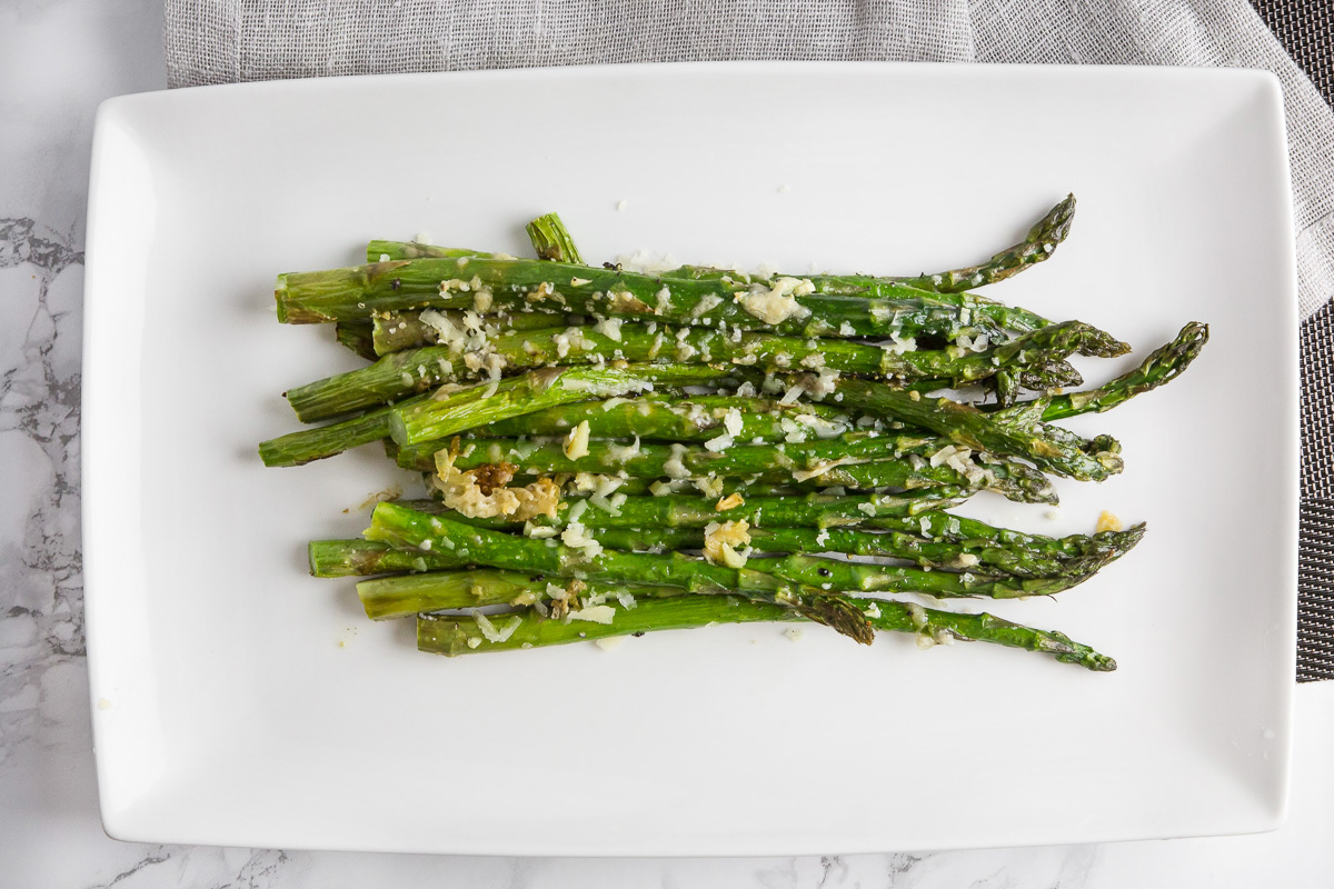 oven roasted asparagus with parmesan